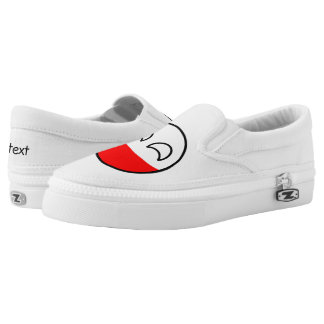 Funny Trending Geeky Poland Countryball Slip-On Sneakers