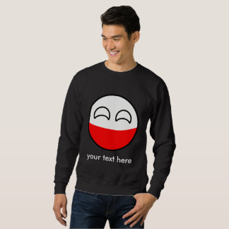 Funny Trending Geeky Poland Countryball Sweatshirt
