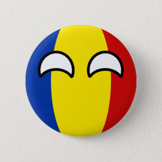 Funny Trending Geeky Romania Countryball 2 Inch Round Button
