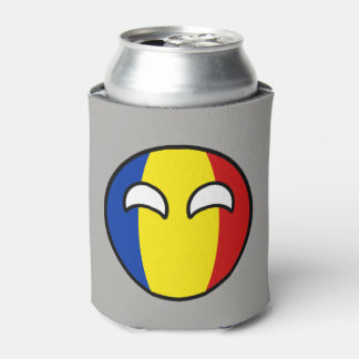 Funny Trending Geeky Romania Countryball Can Cooler