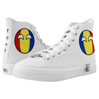 Funny Trending Geeky Romania Countryball High Tops