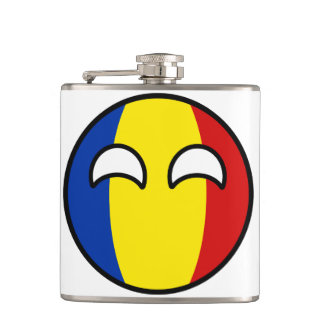 Funny Trending Geeky Romania Countryball Hip Flask