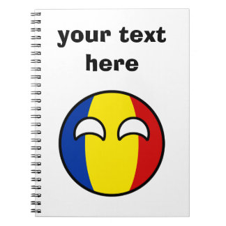 Funny Trending Geeky Romania Countryball Notebook