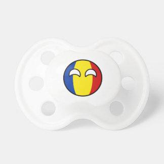 Funny Trending Geeky Romania Countryball Pacifier