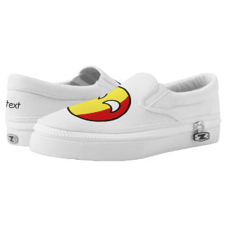 Funny Trending Geeky Romania Countryball Slip-On Sneakers