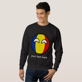 Funny Trending Geeky Romania Countryball Sweatshirt