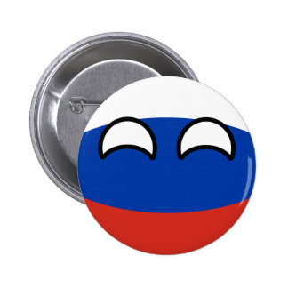 Funny Trending Geeky Russia Countryball 2 Inch Round Button