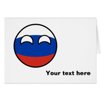 Funny Trending Geeky Russia Countryball Card