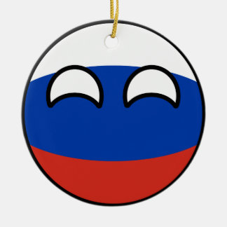 Funny Trending Geeky Russia Countryball Ceramic Ornament