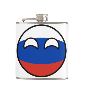 Funny Trending Geeky Russia Countryball Hip Flask
