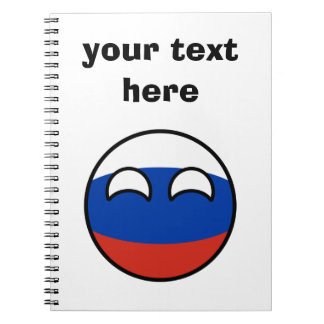 Funny Trending Geeky Russia Countryball Notebooks