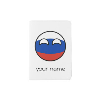 Funny Trending Geeky Russia Countryball Passport Holder