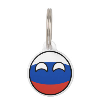 Funny Trending Geeky Russia Countryball Pet Tag