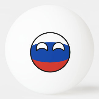 Funny Trending Geeky Russia Countryball Ping Pong Ball