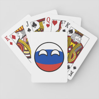 Funny Trending Geeky Russia Countryball Playing Cards