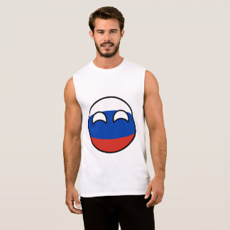 Funny Trending Geeky Russia Countryball Sleeveless Shirt