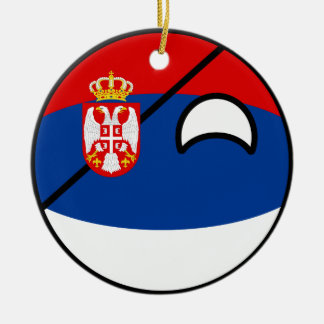 Funny Trending Geeky Serbia Countryball Ceramic Ornament