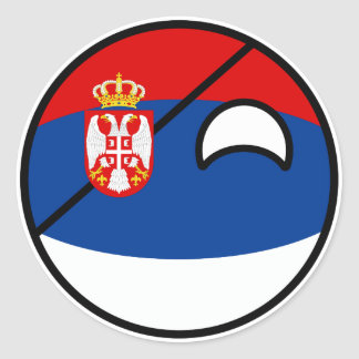 Funny Trending Geeky Serbia Countryball Classic Round Sticker