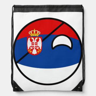 Funny Trending Geeky Serbia Countryball Drawstring Bag