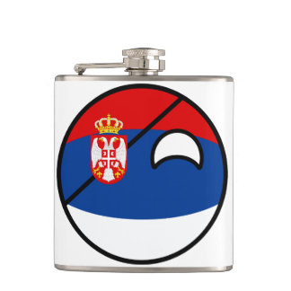 Funny Trending Geeky Serbia Countryball Hip Flask