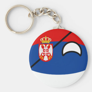 Funny Trending Geeky Serbia Countryball Keychain