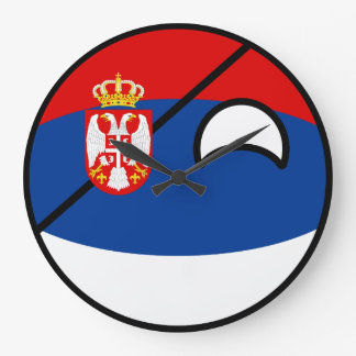 Funny Trending Geeky Serbia Countryball Large Clock