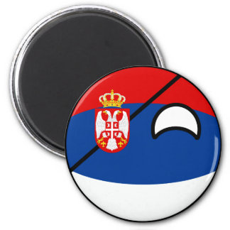 Funny Trending Geeky Serbia Countryball Magnet