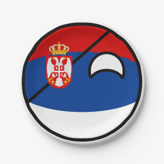 Funny Trending Geeky Serbia Countryball Paper Plate