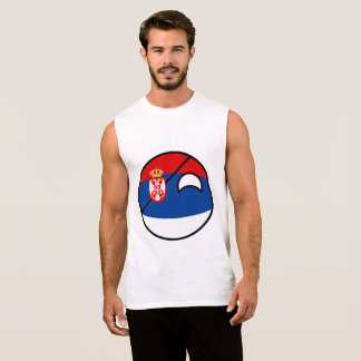 Funny Trending Geeky Serbia Countryball Sleeveless Shirt