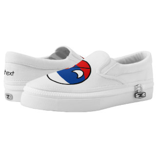 Funny Trending Geeky Serbia Countryball Slip-On Sneakers