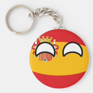 Funny Trending Geeky Spain Countryball Basic Round Button Keychain