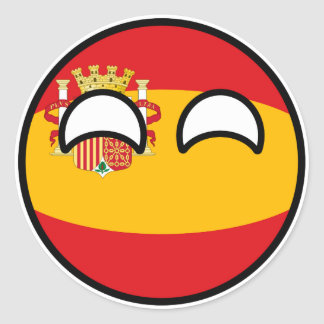 Funny Trending Geeky Spain Countryball Classic Round Sticker