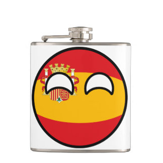 Funny Trending Geeky Spain Countryball Hip Flask