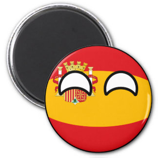 Funny Trending Geeky Spain Countryball Magnet