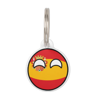 Funny Trending Geeky Spain Countryball Pet ID Tag