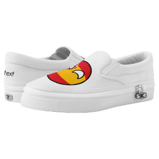 Funny Trending Geeky Spain Countryball Slip-On Sneakers