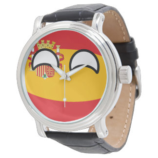 Funny Trending Geeky Spain Countryball Watch