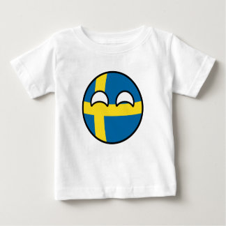 Funny Trending Geeky Sweden Countryball Baby T-Shirt