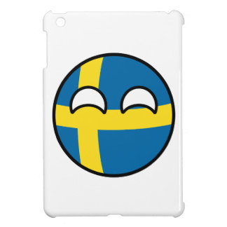 Funny Trending Geeky Sweden Countryball Cover For The iPad Mini