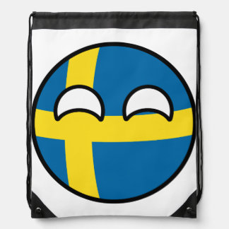 Funny Trending Geeky Sweden Countryball Drawstring Bag