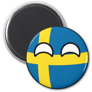 Funny Trending Geeky Sweden Countryball Magnet