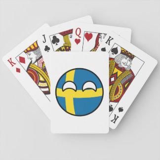 Funny Trending Geeky Sweden Countryball Poker Deck