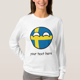 Funny Trending Geeky Sweden Countryball T-Shirt