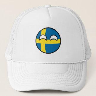Funny Trending Geeky Sweden Countryball Trucker Hat