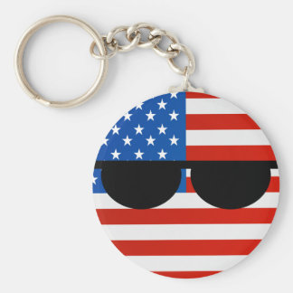 Funny Trending Geeky USA Countryball Keychain