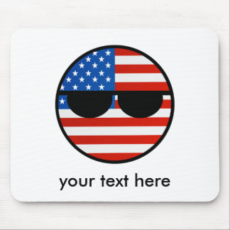 Funny Trending Geeky USA Countryball Mouse Pad