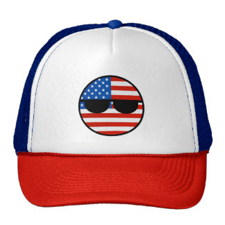 Funny Trending Geeky USA Countryball Trucker Hat