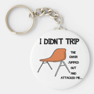 Funny Tripping Chair Keychain
