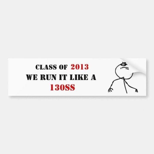 Funny Troll Face Class of 2013 Bumper Sticker