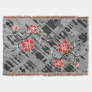 Funny Tropical Hibiscus Decor Throw